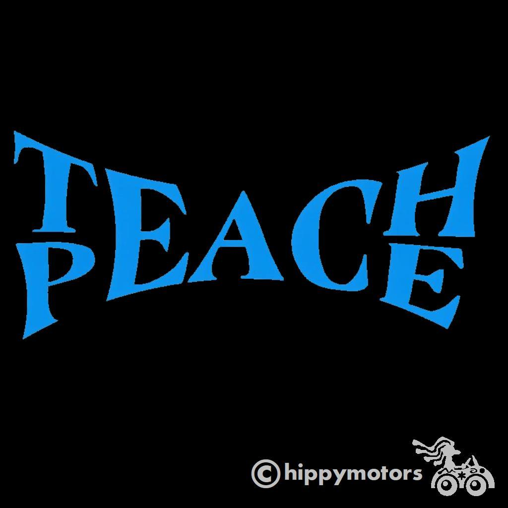 Banksy teach peace decal
