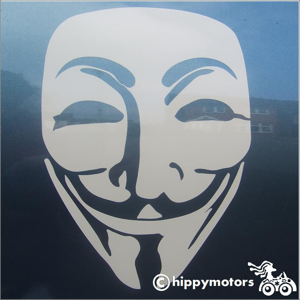 Guy Fawkes v for vendetta decal