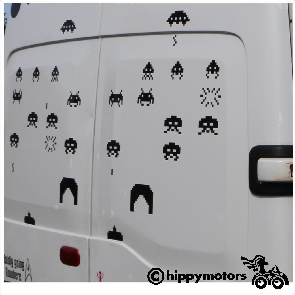 space invader stickers for campervans caravans