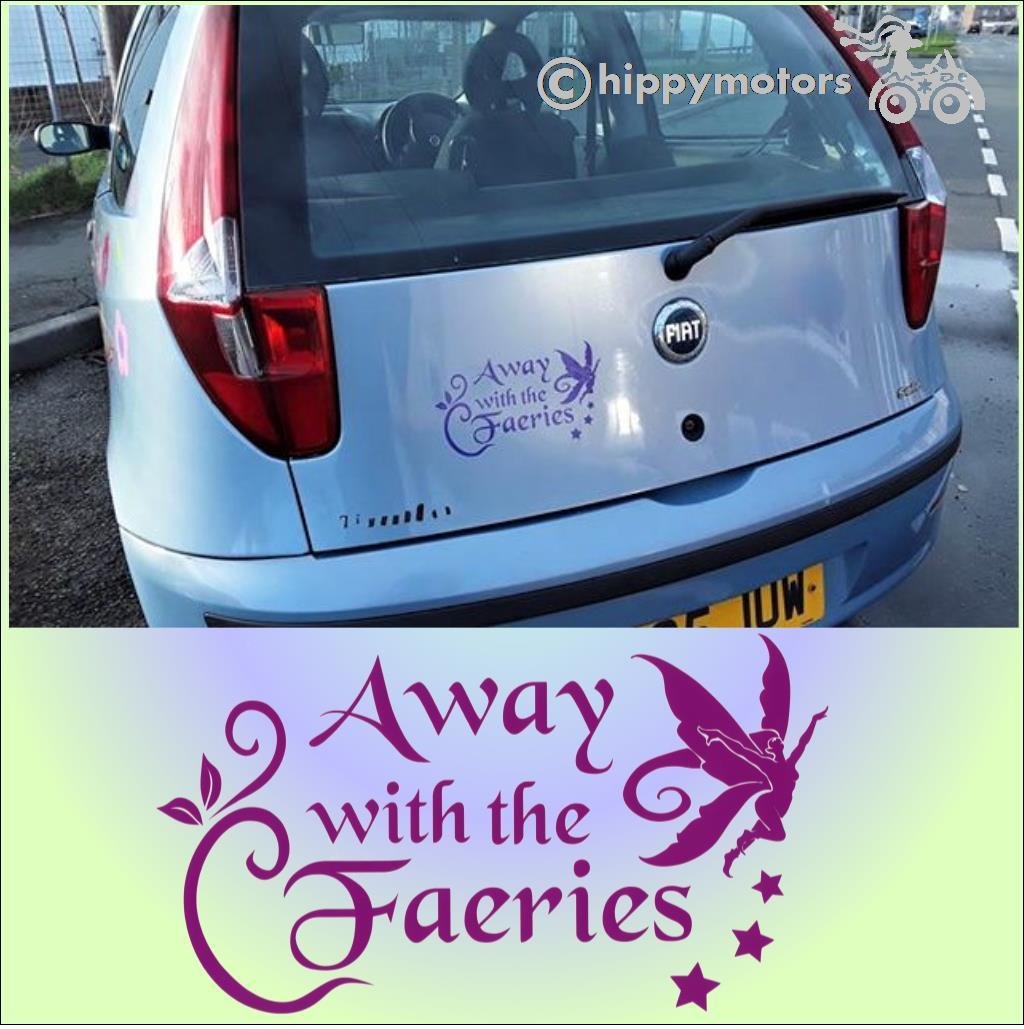 fairy bumper car sticker camper van transfer
