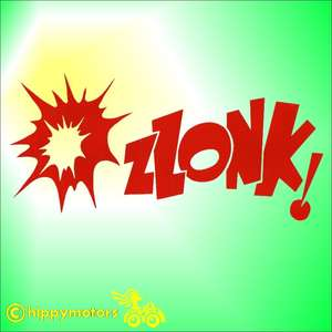 Comic book style zlonk decal