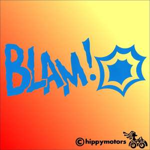 Comic book style blam decal