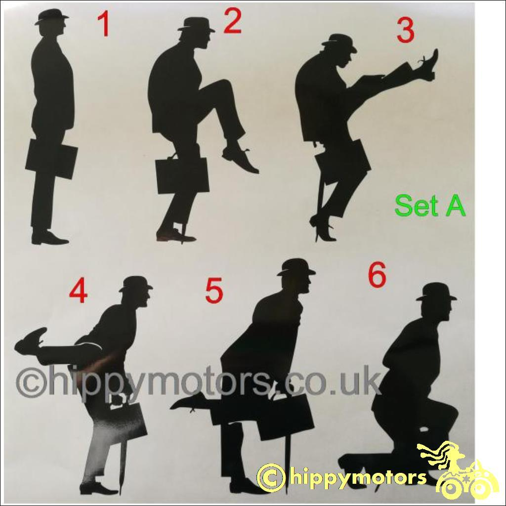 monty python silly walk vinyl stickers for cars camper vans