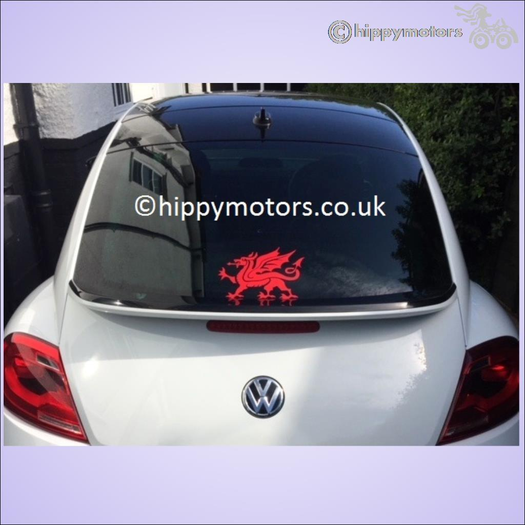 Welsh dragon window decal caravan transfer hippy motors