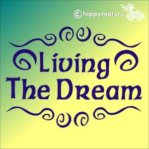 living the dream vinyl vehicle sticker decal for cars camper vans caravans