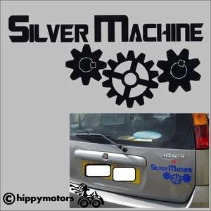 hawkwind silver machine vinyl sticker decal for vehicles windows