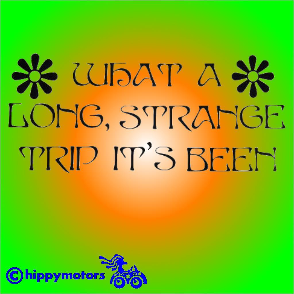grateful dead strange trip sticker decal for cars windows camper vans