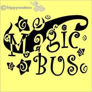 The Who Magic Bus vinyl decal for cars camper vans buses