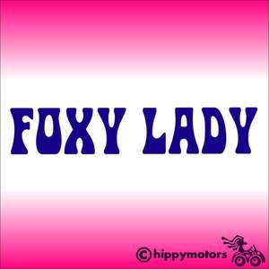 foxy lady jimi hendrix vinyl decal sticker for cars windows bumpers