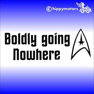 star trek boldly going nowhere vinyl decal for car camper van window