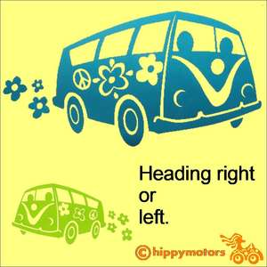 hippy bus vinyl decal sticker for a camper van minibus