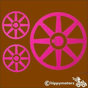 steam punk fly wheel vinyl sticker for cars caravans walls and windows