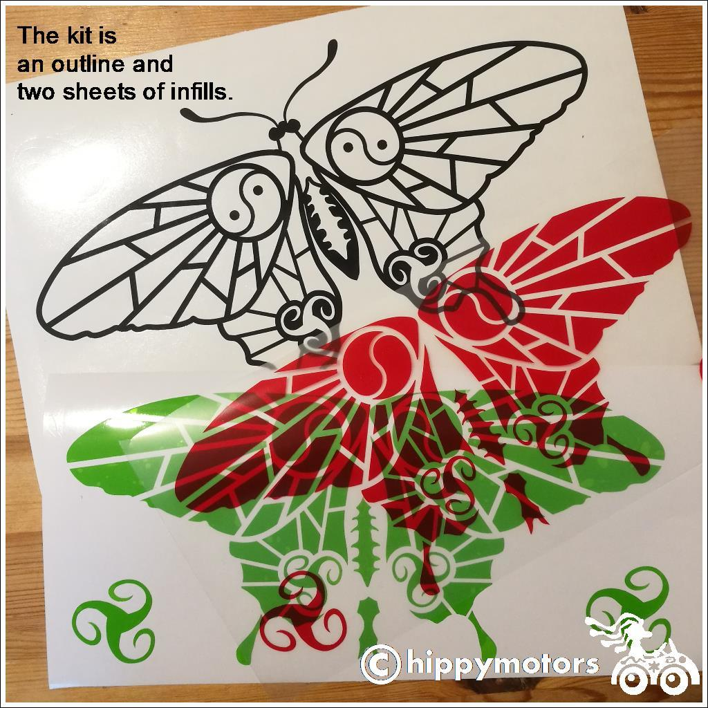 Butterfly Vinyl window kit from Hippy Motors