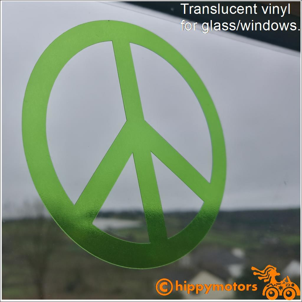 cnd peace window glass sticker on windscreen