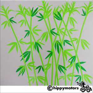 Bamboo vinyl decal kit for vehicles and walls