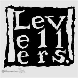 Levellers logo vinyl decal for vehicles, windows and walls