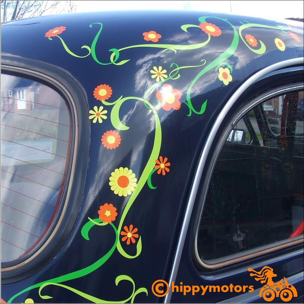 curly vine on a car