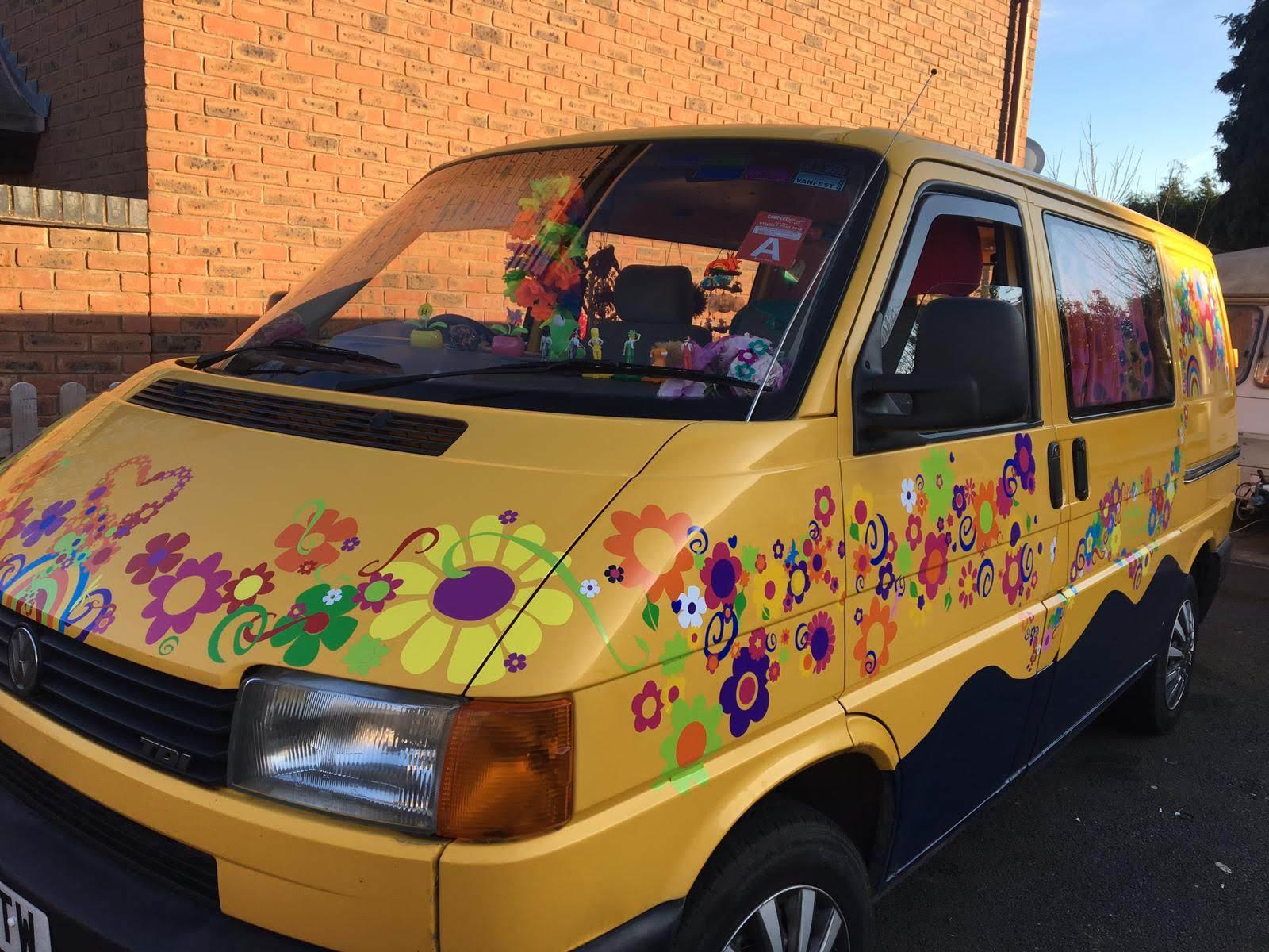 VW camper van transfers hippy stickers decals