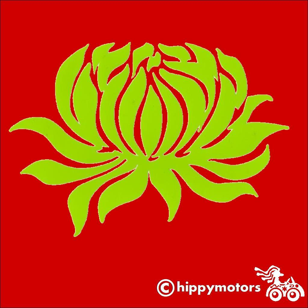Water Lily Flower Decal for cars
