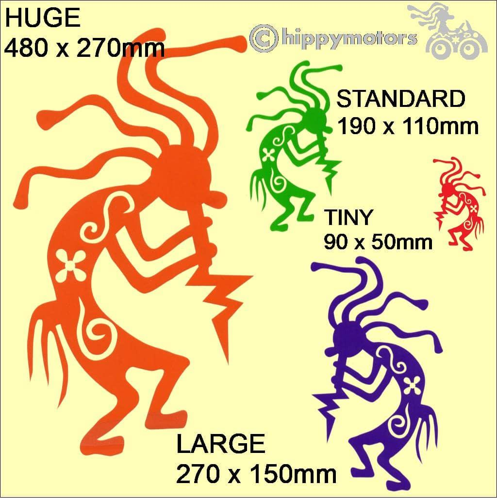 kokopelli hippy dude sticker caravan decal hippy motors