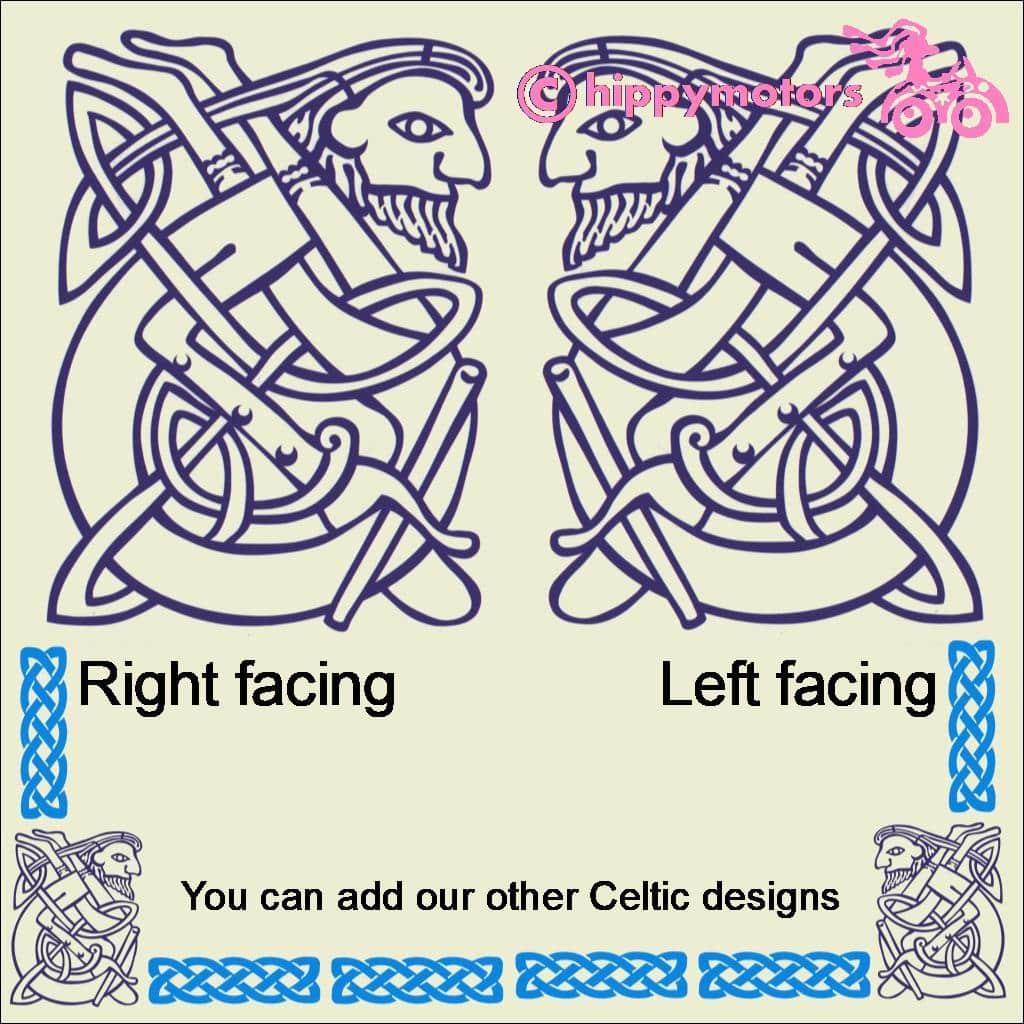 Celtic figure knotwork decal
