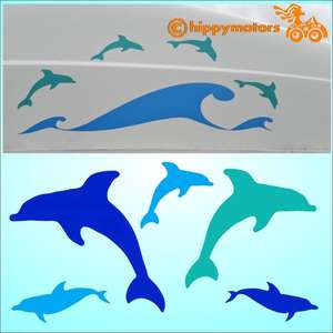 Dolphin stickers on camper van by hippy motors