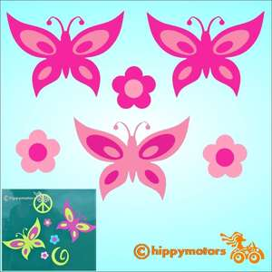 Butterfly car decals