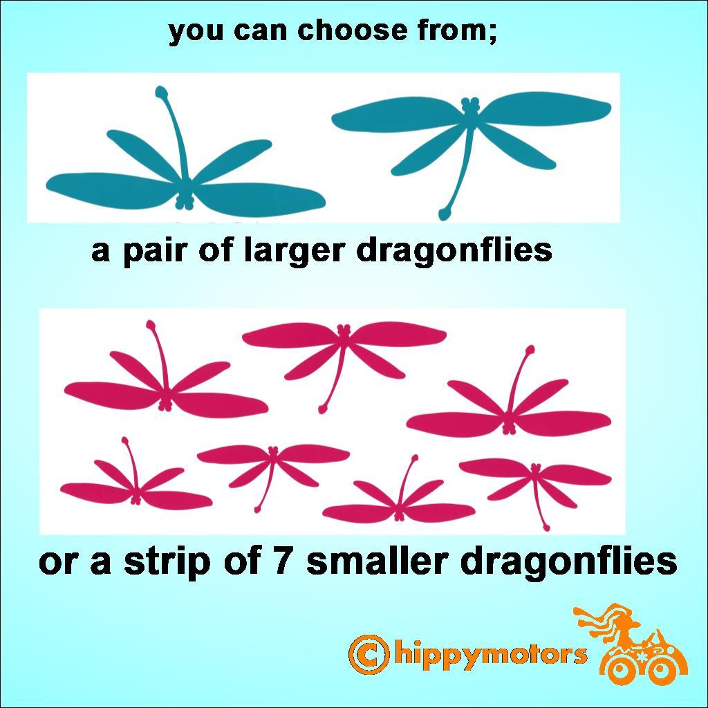 dragonfly vinyl stickers for cars and windows
