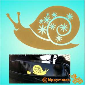 vinyl Snail Decal for cars and camper vans and canal boats