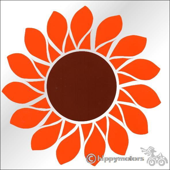 Hippy Motors sunflower decal