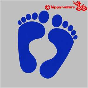 Footprint decals for cars caravans
