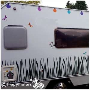 festoon light vinyl caravan decals
