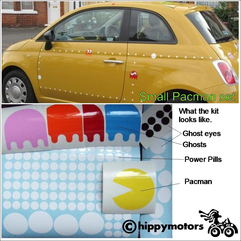 pacman vinyl transfer sticker for car and wall