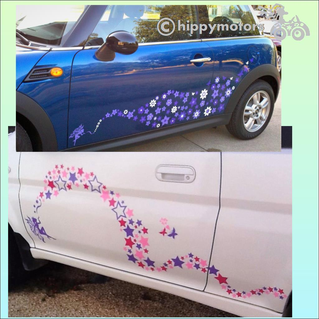 fairy kiss car sticker star decal hippy motors