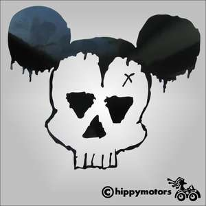The Cult dead mickey vinyl decal for cars laptops guitars