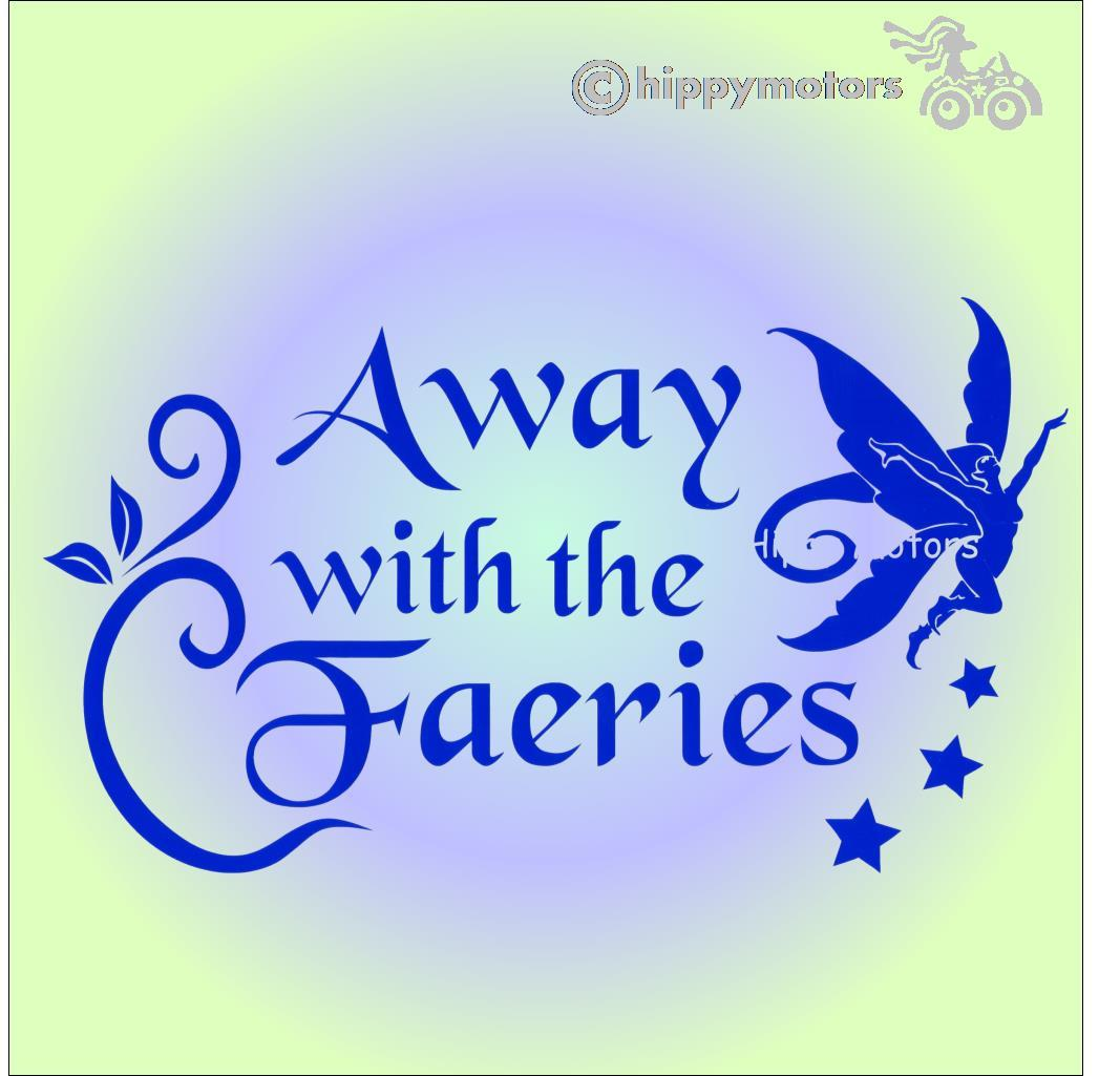 fairy camper van graphics window sticker hippy motors
