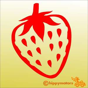 vinyl strawberry decal for vehicle window and wall