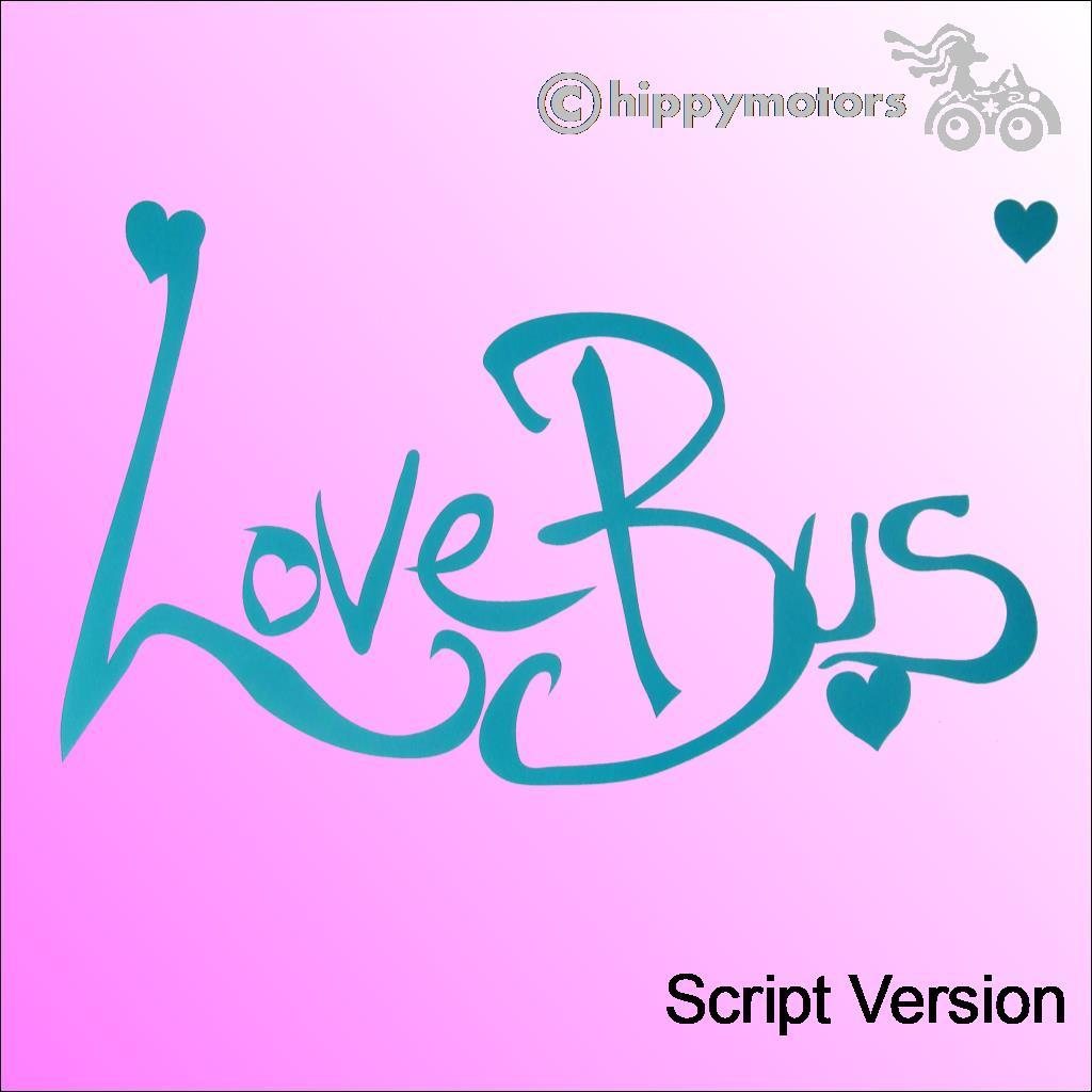 love bus vinyl sticker decal for camper vans caravans buses and motor homes