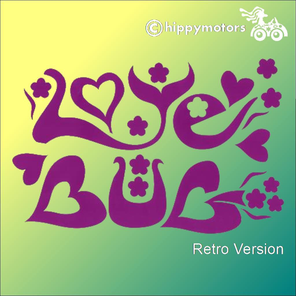 retro vinyl love bug transfer sticker for beetle cars and camper vans
