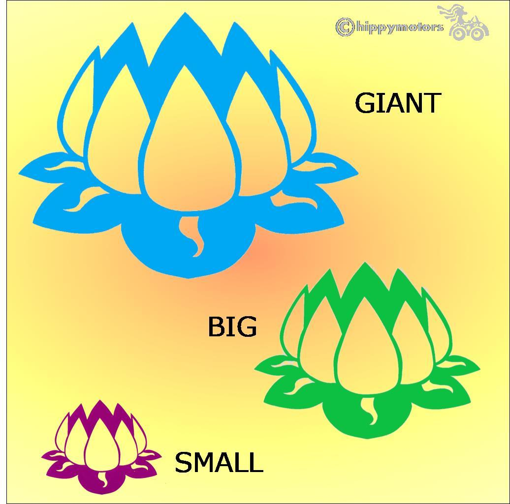 lotus flower sticker for cars, kayaks, combis and windows