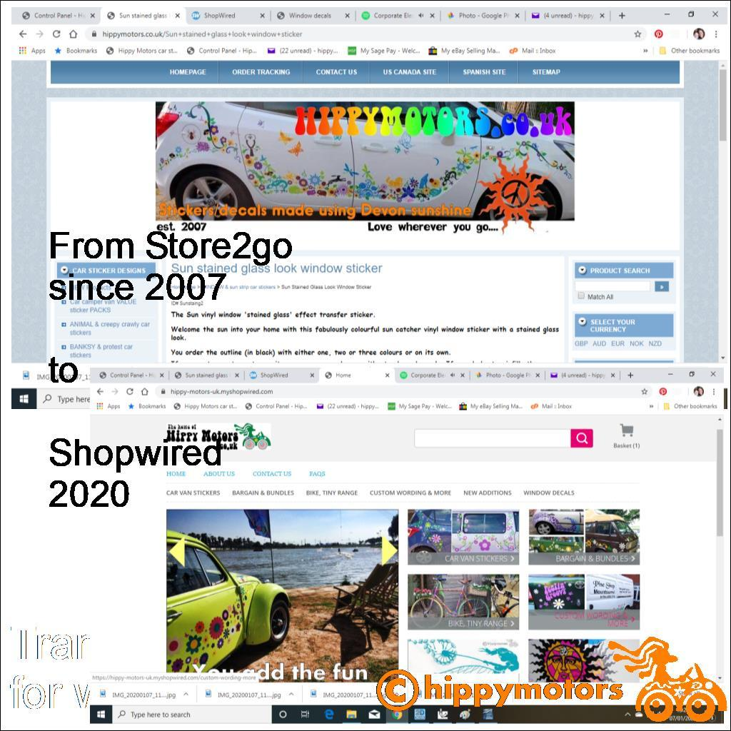shopwired new hippy motors website