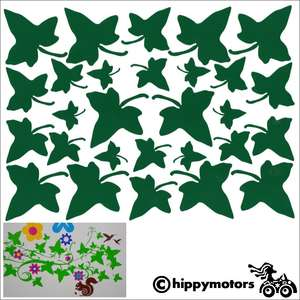 ivy leaf decals or cars or walls