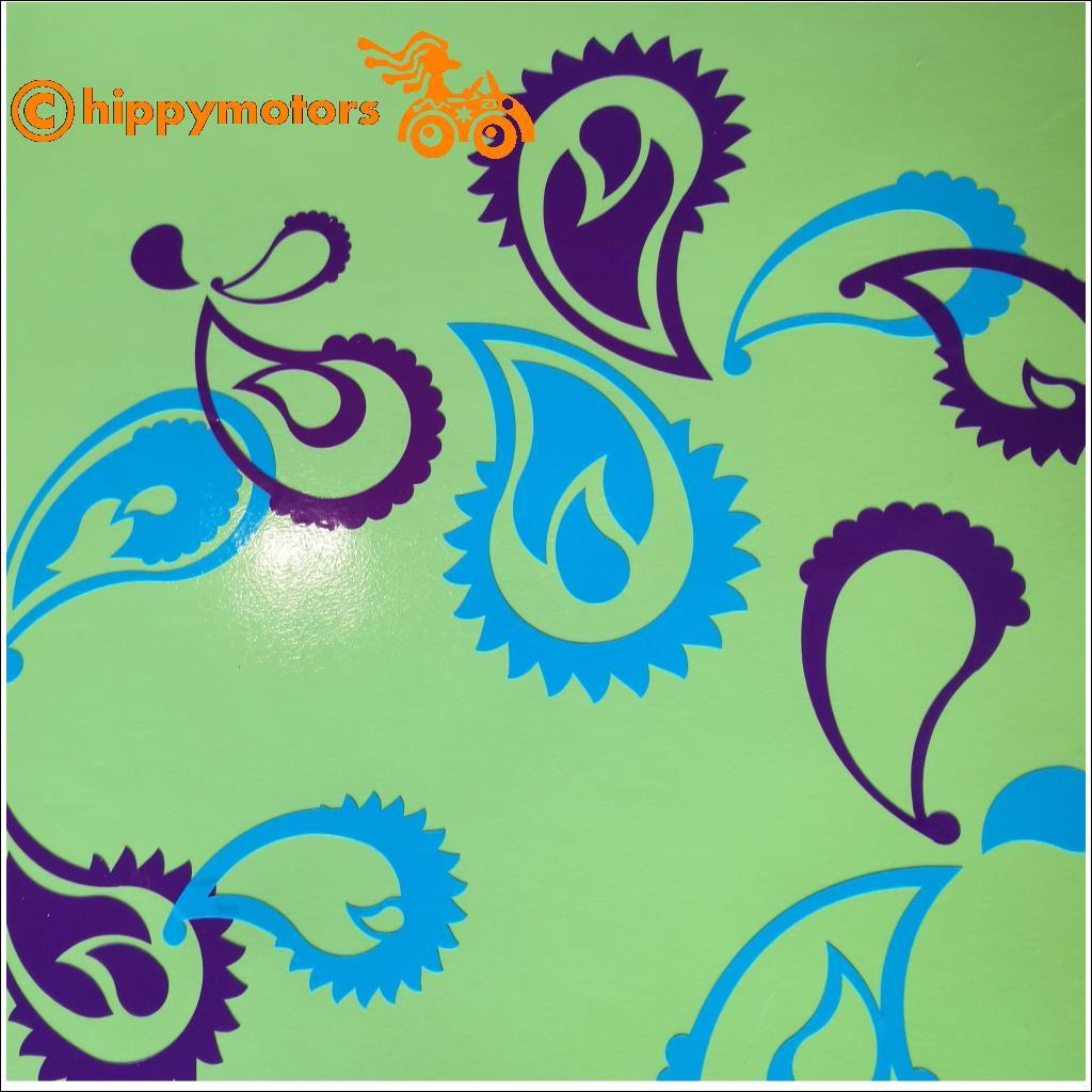 Paisley Design Decals for cars window wall