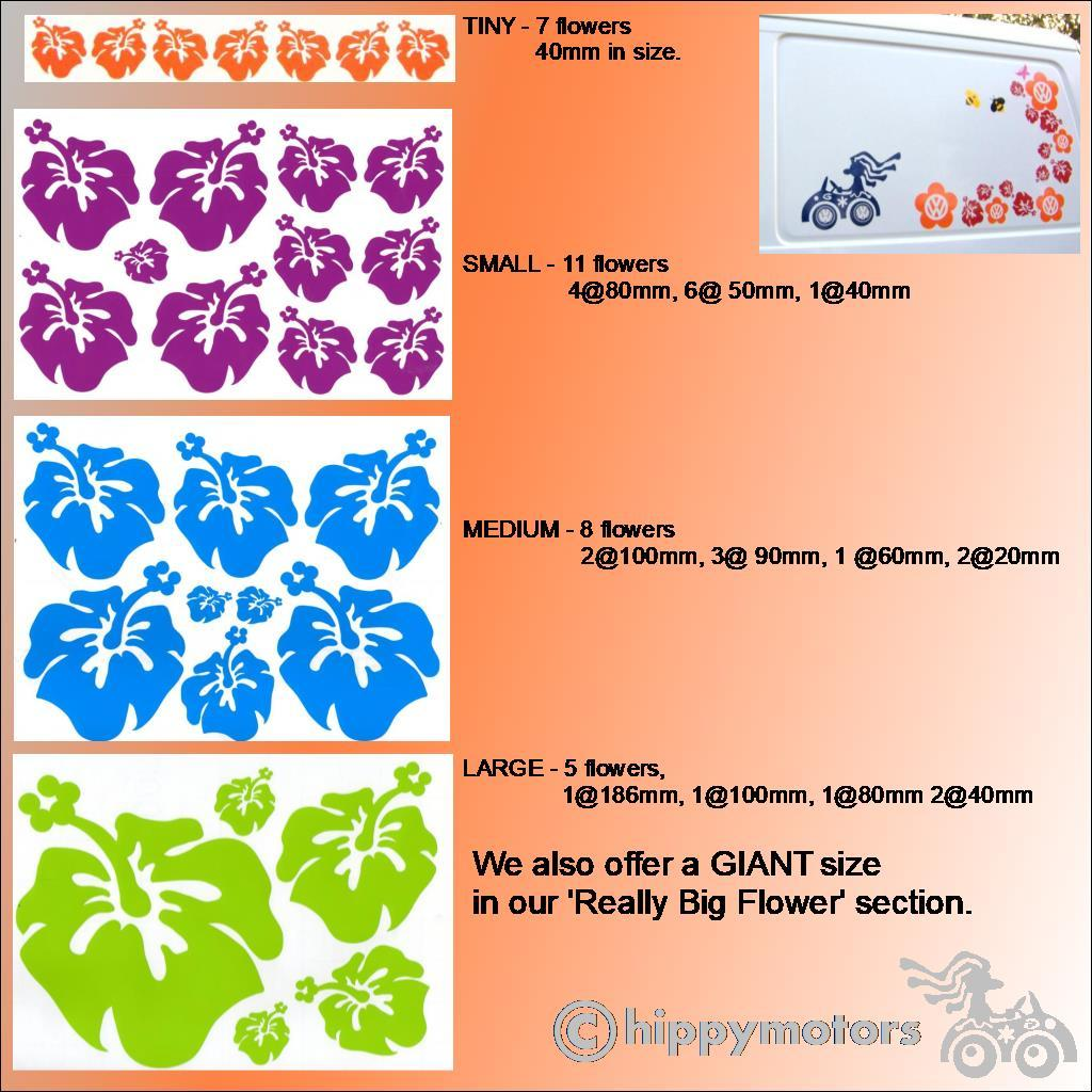 Hibiscus Flower sticker sheets