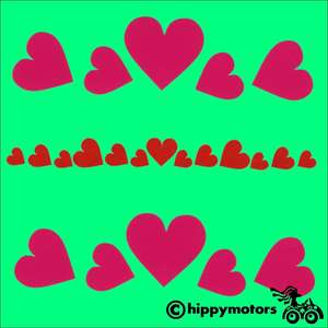 Tiny Heart Decals for bikes or mobility scooters
