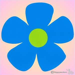 large vinyl flower sticker for caravans and camper vans