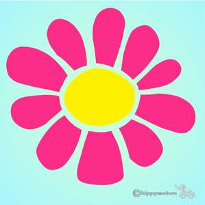 daisy vinyl sticker for vehicles walls caravans camper vans
