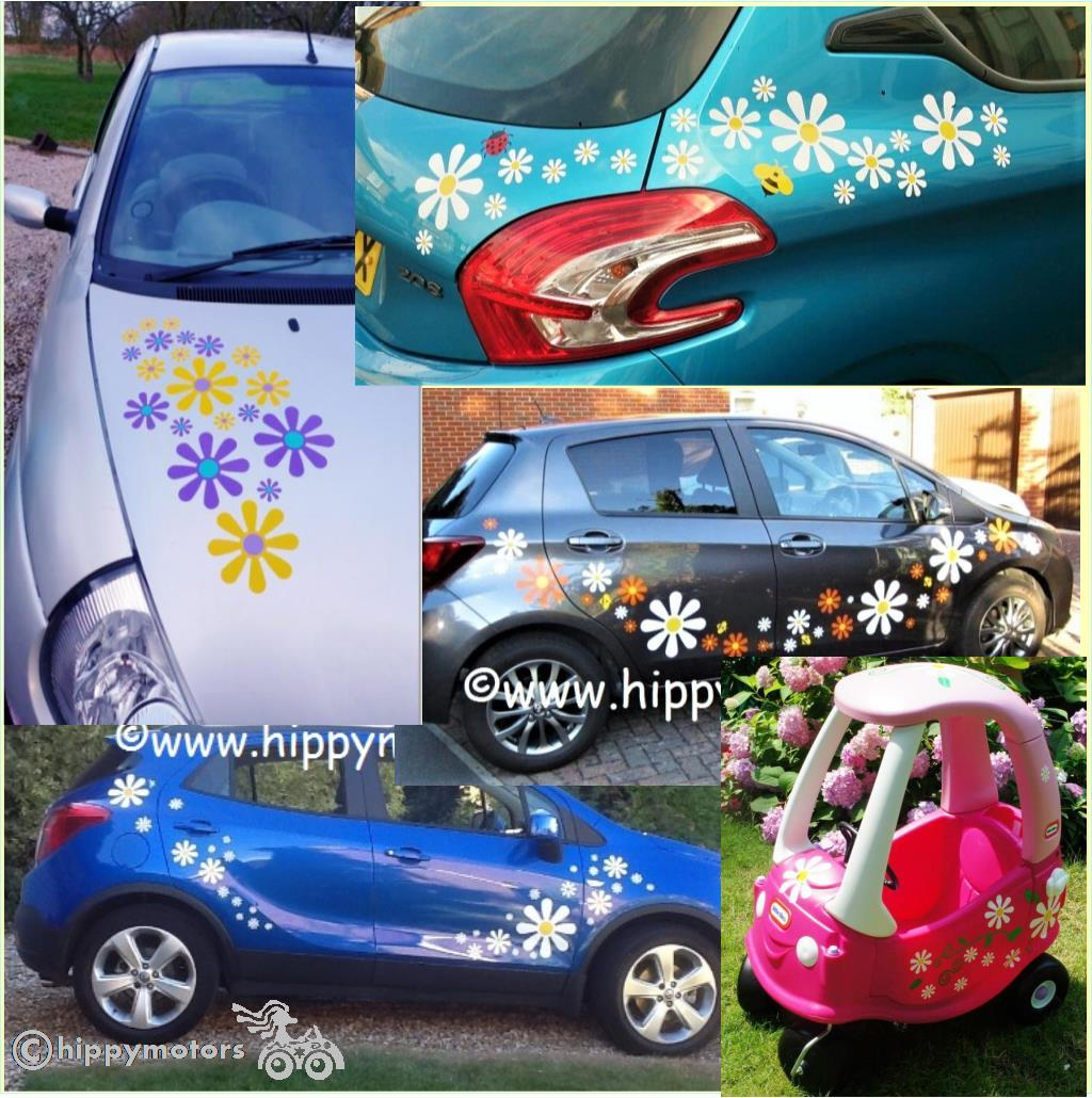 daisy car stickers by Hippy Motors for cars caravans camper vans