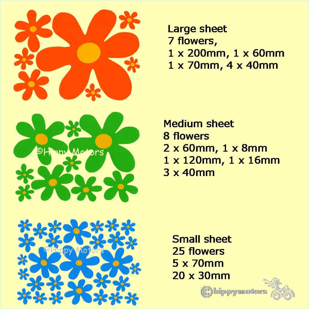 scooby flower vinyl decals for vehicles walls camper vans