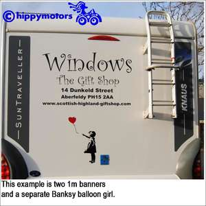 customised banner on a van